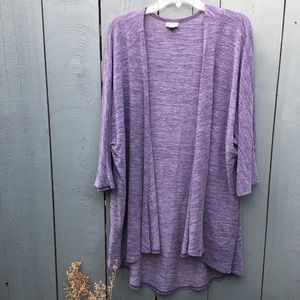 Lularoe Cardigan Purple Size Large